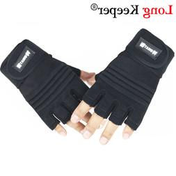 Long Keeper Sports <font><b>Gloves</b></font> Half Finger Br