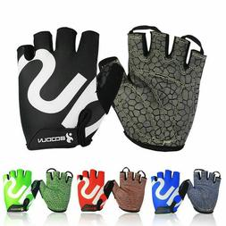 Sports Gym Gloves Weight Lifting Body Building Half Finger F