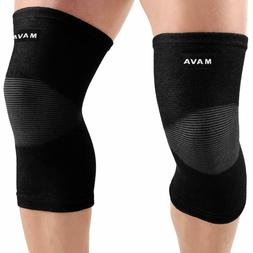 sports knee support sleeves pair for joint