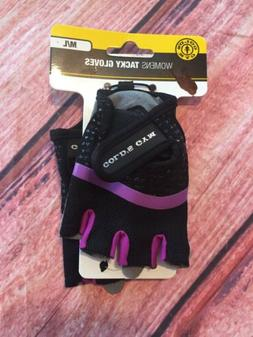Gold's Gym Women's Tacky Half FINGER Weight Lifting Gloves M