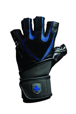 Harbinger 1250 Ventilated Training Grip Wrist Wrap Gloves -
