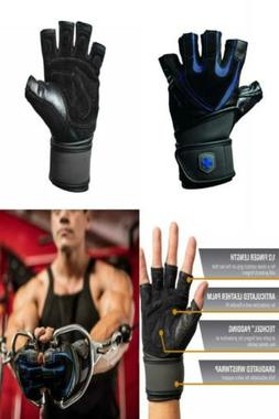 Harbinger Training Grip Wristwrap Weightlifting Gloves with