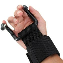Training Weightlifting Hook Gym Grips Gloves Wrist Support A