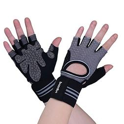 BOODUN New Upgraded Weight Lifting Gym Gloves Training Fitne