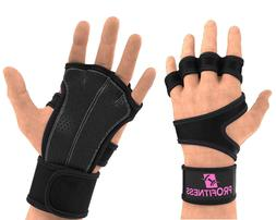 Weight Lifting Workout Gloves with Non-Slip Silicone Grip Pa