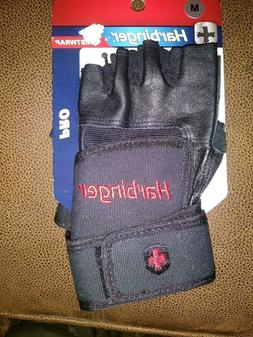 Harbinger Ventilated Pro Wristwrap Weight Lifting Gloves - B