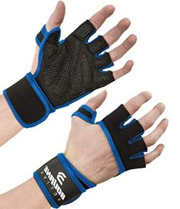 Ventilated Workout Gym Gloves with Wrist Wrap Support for Me