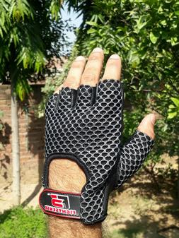 Weight Lifting Bodybuilding Gym Fitness Leather Gloves Stren