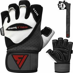 RDX Weight Lifting Gloves Body Building Gym Workout Wrist St
