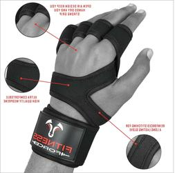 Weight lifting Gloves Cross Training WOD Gym Workout Power l