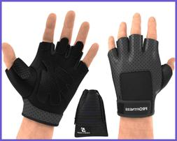 Profitness Weight Lifting Gloves Fingerless Power Cross Trai