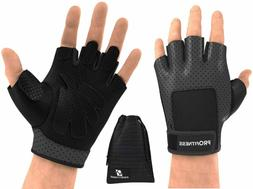 Profitness Weight Lifting Gloves Fingerless Power Training G
