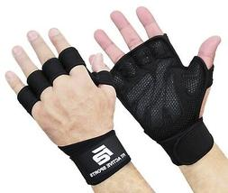 Fit Active Sports Weight Lifting Gloves For Workout Gym Cros
