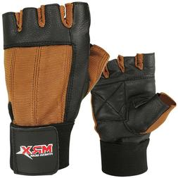 Weight Lifting Gloves Leather Exercise Gym Training Fitness