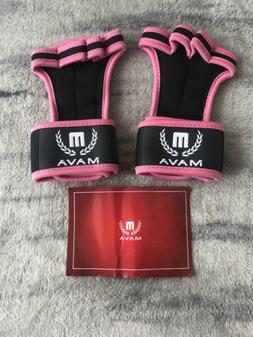 Mava Sports Weight Lifting Gloves Size XS Pink Silicone Grip