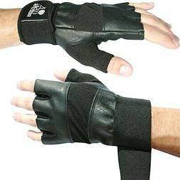 "Nordic Lifting Weight Lifting Gloves with 12"" Wrist Wraps Su"
