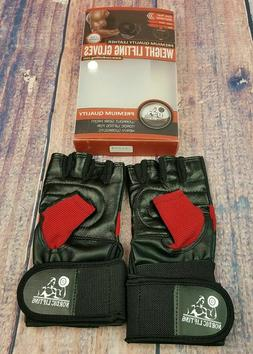 Weight Lifting Gloves With 12inch Wrist Support For Gym Work