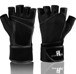 RIMSports Weight Lifting Gloves With Wrist Wrap - Best Lifti