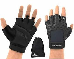 ProFitness Weight Lifting Gym Gloves Full Palm Protection, D