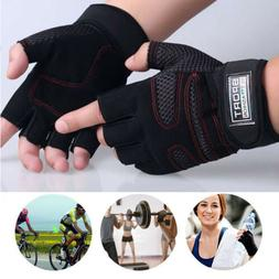 Weight lifting Gym Gloves Training Fitness Wrist Wrap Workou