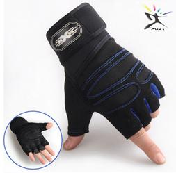 Weight Lifting Gym Gloves Workout Wrist Wrap Sports Fitness