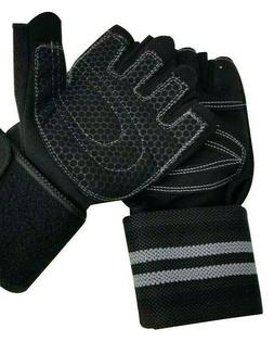 weight lifting half finger workout gym gloves