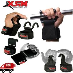 Weight Lifting Hooks Gym Training Deadlift Wrist Support Gri