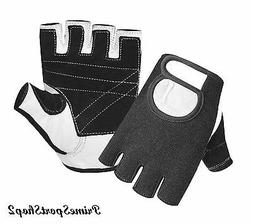 WEIGHT LIFTING PADDED GLOVES FITNESS TRAINING BODY BUILDING