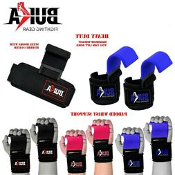 Weight Lifting Straps Power Training Gym Hook Grips Gloves W