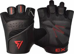 RDX Weight Lifting Training Gloves Gym Fitness Exercise Leat