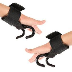Weight Lifting Training Gym Hook Grips Straps Gloves Wrist S