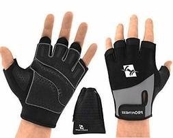 ProFitness Weight Lifting Workout Gloves - W/Non-Slip Medium