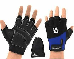 ProFitness Weight Lifting Workout Gloves - W/Non-Slip Silico