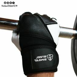 Steel Sweat Weightlifting Glove Support for Workout,and Fitn
