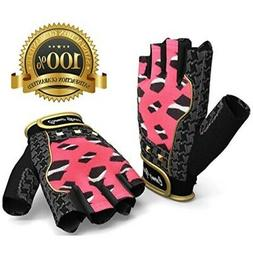 Women Weightlifting Gloves for Crossfit Cycle Gym Training -