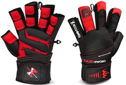 Crown Gear Weightlifting Gloves for Gym Fitness Crossfit Bod