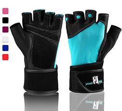 RIMSports Weightlifting Gloves with Wrist Support - Workout
