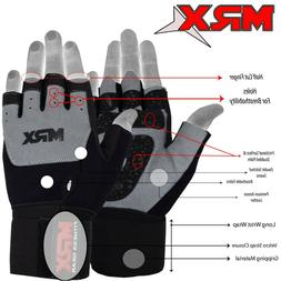 Weightlifting Gloves Gym Workout Weight Training Lifting Lon