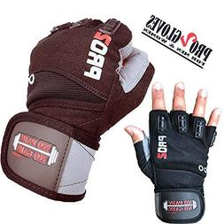 UniteduShop 2018 Pro 2 Weightlifting Gloves with Integrated