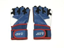 weightlifting gloves size m wrist wrap support