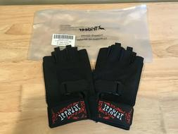 Womans Trideer Weight Lifting Workout Half Finger Gloves, Bl