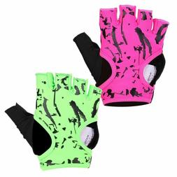Women Half Finger Sports Gloves Anti Skid Weight Lifting Gym