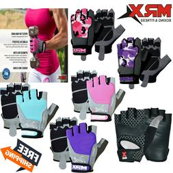 Women Men Half Finger Gym Gloves Workout Sports Weight Lifti