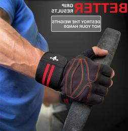 Women/Men Gym Gloves With Wrist Wrap Workout Weight Lifting
