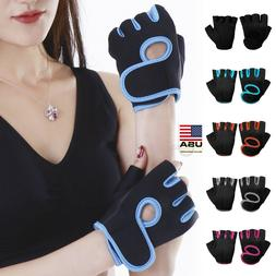 Women Men Half Finger Work Out Gym Gloves Sport Weight Lifti
