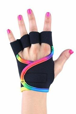 Women's Fitness Gym Workout Weightlifting Rainbow Gloves G-L