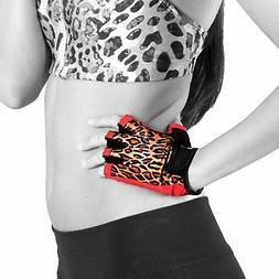 Women's Fitness Gloves in Leopard Print by Gym Girl