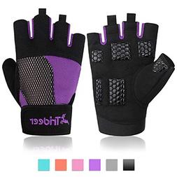 Trideer Women Weight Lifting Gloves, Breathable & Non-slip,