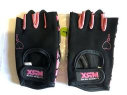 WOMENS MRX Weight Lifting Gloves in Pink Color Heart Series