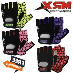 Womens Weightlifting Gloves Gym Fitness Training MRX Short F